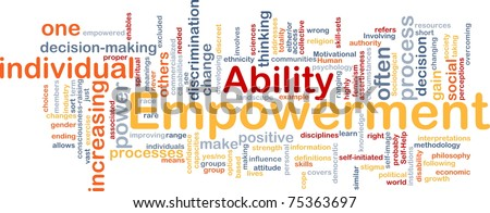 Background concept wordcloud illustration of enpowerment - stock photo