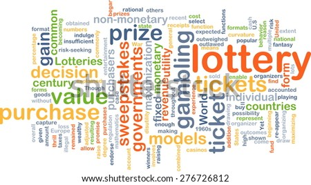 Background concept wordcloud illustration of lottery