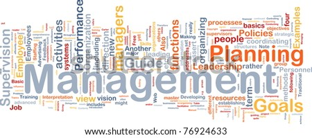 Background concept wordcloud illustration of management - stock photo
