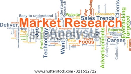 Background concept wordcloud illustration of market research analyst - stock photo