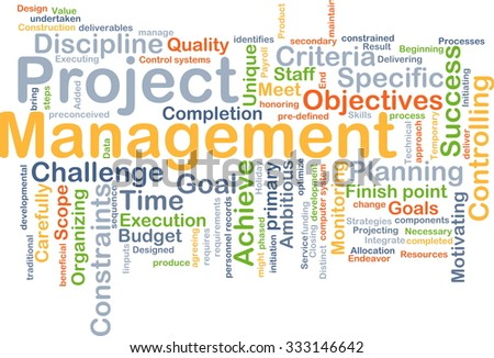 Background concept wordcloud illustration of project management - stock photo