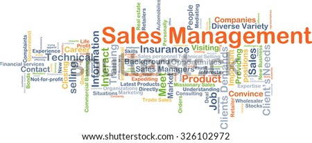 Background concept wordcloud illustration of sale management