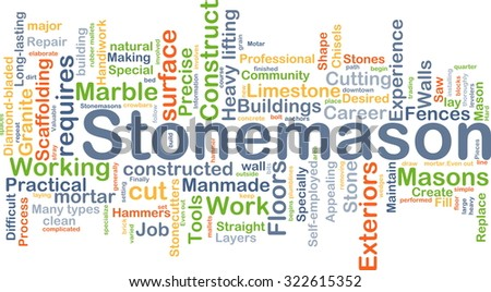 Background concept wordcloud illustration of stonemason