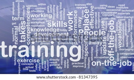 Background concept wordcloud illustration of training international - stock photo