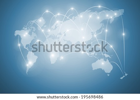 Background conceptual digital image with world map