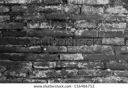 Background consists of old bricks and mortar - stock photo