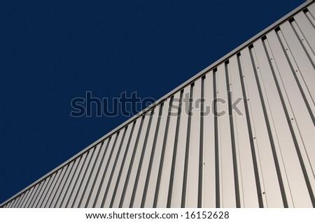 background: corrugated metal - stock photo