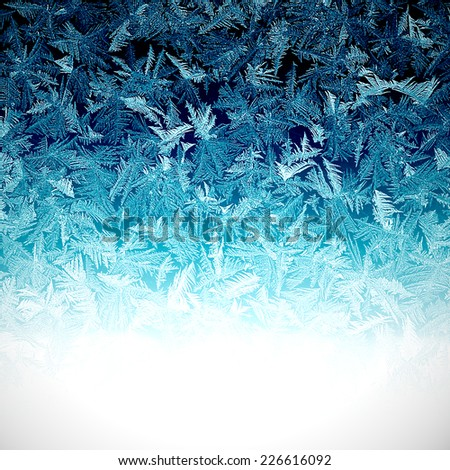 background covered with frost patterns - stock photo