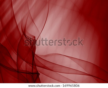 Background curtain red silky abstract modern pattern - stock photo
