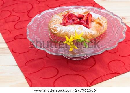 background - delicious dessert - stock photo