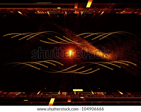 Background design of fractal grids, lights  and technological elements on the subject of science, computing and modern technologies - stock photo