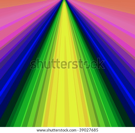 background design of lines in cool colors - stock photo