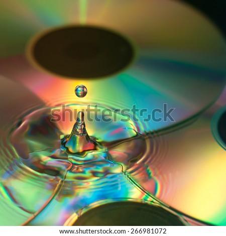 Background disco droplet - stock photo