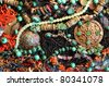 Background - east ornaments - stock photo
