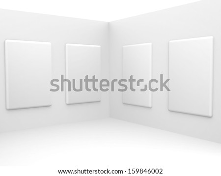 Background empty room. With space for your text and picture. 3d render blank trade show booth for designers