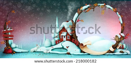 Background for  Greeting card or illustration for Christmas or New Year - stock photo