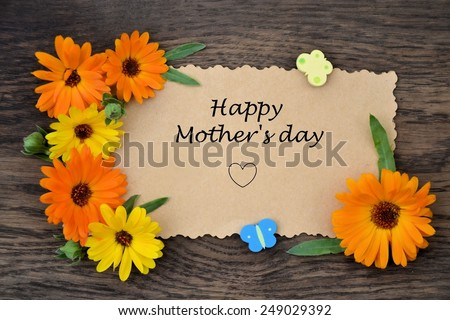 background for greetings for Mother's Day - stock photo