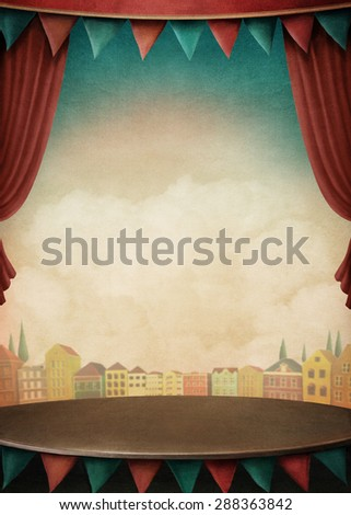 background  for illustrations and posters - stock photo
