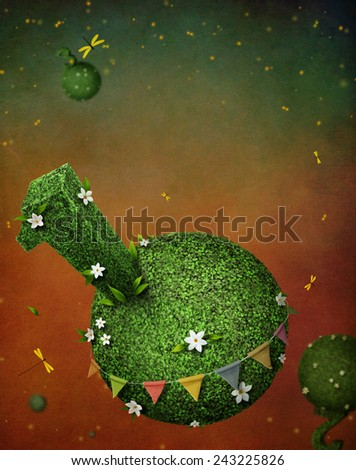 Background for invitation card to celebrate the birthday of one year - stock photo