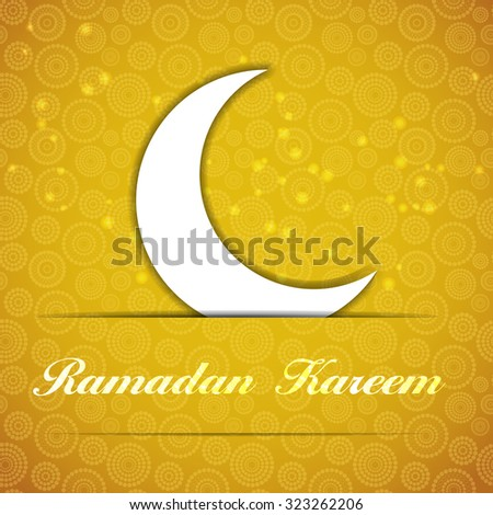 Background for Muslim Community Festival Illustration  - stock photo