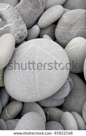 background for sea stones - stock photo