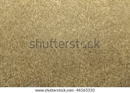 background: fragment of plane green wallpaper texture - stock photo