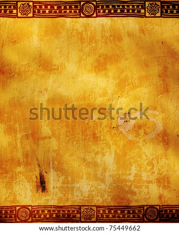 Background - frame with American Indian traditional patterns - stock photo