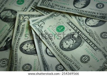 background from a lot of American dollar bank notes  - stock photo