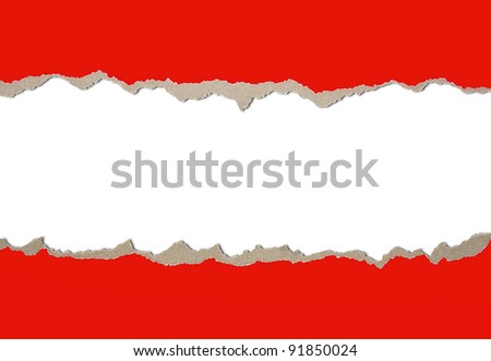 Background from a paper with the torn edges - stock photo
