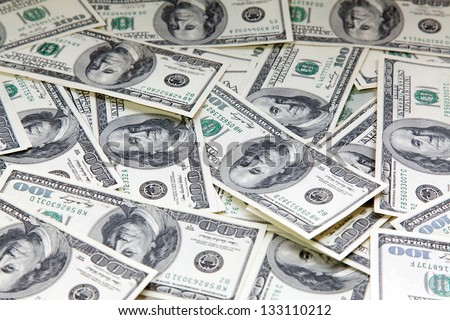 Background from american 100 dollars - stock photo