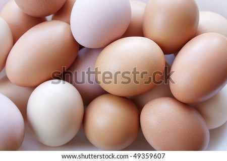 background from chicken eggs - stock photo