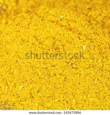 background from curry powder close up - stock photo