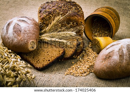 background from fresh white bread