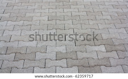 Background from street sett - stock photo