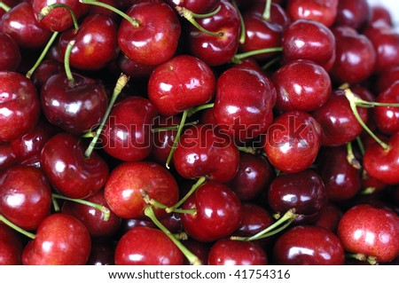 Background from sweet cherries - stock photo