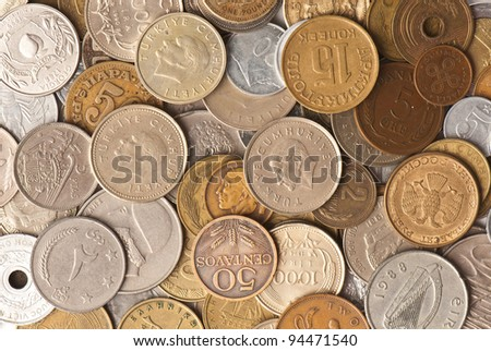 background from the age-old money of the different states - stock photo