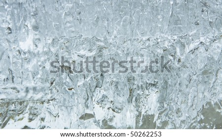 background from the block of ice - stock photo