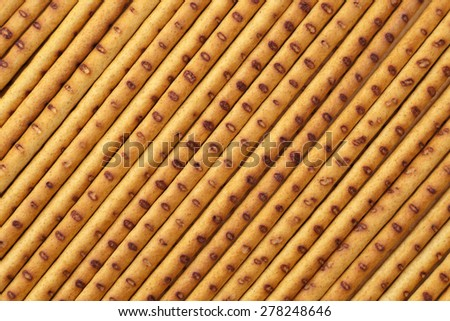 Background from the diagonally crispy baked straw. - stock photo