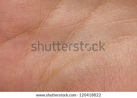 background from the lines on the hand. Macro - stock photo