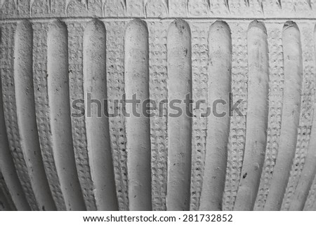 background from tree concrete pot - stock photo