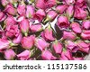 background from wet roses - stock photo
