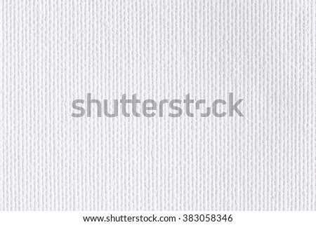 Background from white coarse canvas texture. - stock photo