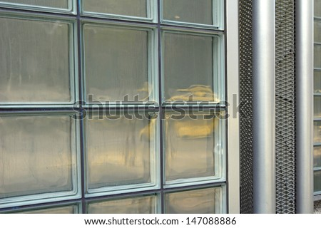 Background - glass panel - stock photo