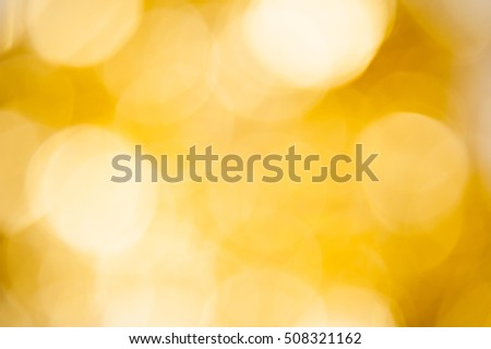 Background gold bokeh out of focus