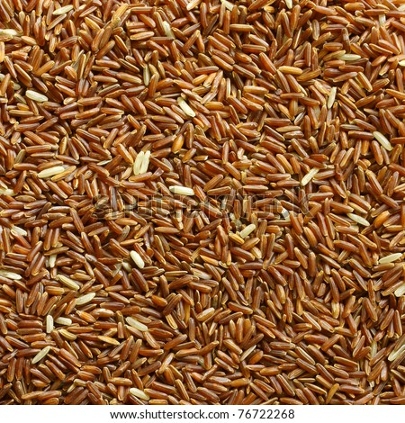 Background Grain brown rice. - stock photo