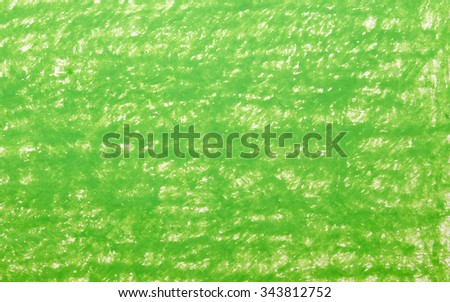 Background green crayon drawing texture - stock photo