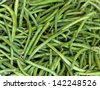 background: green wax beans - stock photo