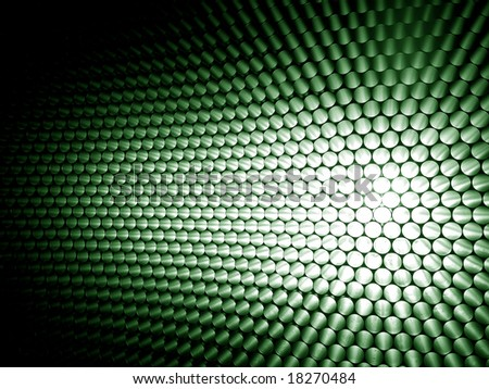 background green white balls - stock photo