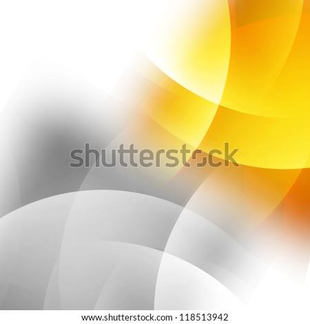 background grey orange - stock photo