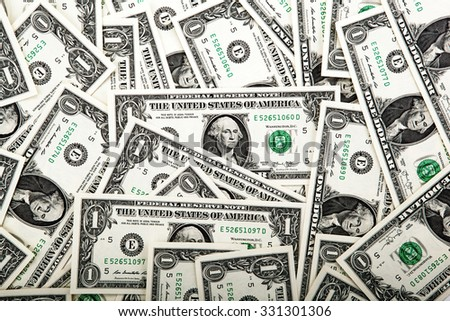 background heap of dollars close up - stock photo